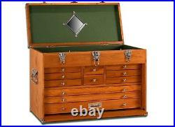 Gerstner International GI-T24 11 Drawer Oak/Veneer Tool Hobby Chest NEW