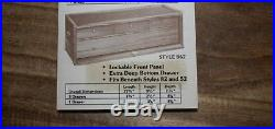 Gerstner walnut wood tool chest style 52, 11 drawer with base style 62, 4 drawer