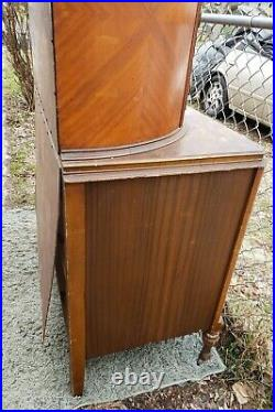 Gorgeous Ornate Antique Dove Tailed Chest of Drawers Wooden Dresser Art Deco