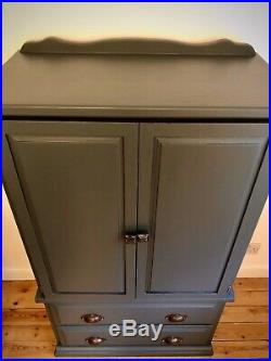 Grey Painted Linen Cupboard Storage Cupboard Chest Of Drawers Tallboy Ukdel