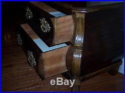 HENREDON Bombay 2 drawer vintage chest night stand end table 30x18x24high