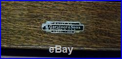 H Gerstner & Sons Wood Machinist Tool Box Chest 11 Drawers Vintage Model 052