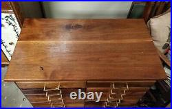 Handmade Machinist Tool Chest Drawers Cherry Walnut Jeweler Cabinet Solid Wood