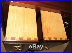 Henkel Harris Solid Mahogany Lingerie Chest 7 Drawer Slender Dresser