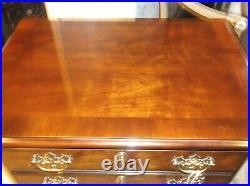 Henredon 4 Drawer Mahogany Silverware Chest/Cabinet on Legs