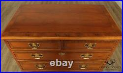 Henredon Aston Court Chippendale Style Yew Wood Chest of Drawers