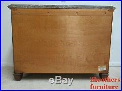 Henredon Oversized Burl Wood Regency Marble Top Chest of Drawers Dresser A