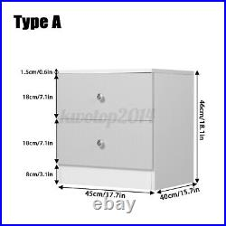 High Gloss Dressers Chest of Drawers 2/5 Drawer Wood Nightstand Bedroom Storage