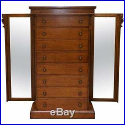 Huge Rrp £9999 Ralph Lauren Pollard Oak Chest Of Drawers Tallboy With Mirrors