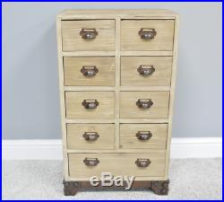 Industrial Apothecary Cabinet Vintage Storage Tallboy Narrow Tall Chest Drawers