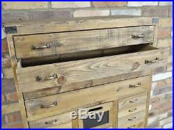 Industrial Cabinet Rustic 24 Drawers Storage Chest Multi Compartment Furniture