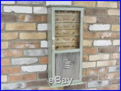Industrial Wooden Unit Distressed Wall Mountable Cabinet 6 Drawers Storage Chest
