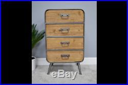 Industrial chest 4 drawer tallboy cabinet chest