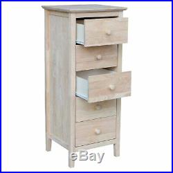 International Concepts 5 Drawer Lingerie Chest, Unfinished