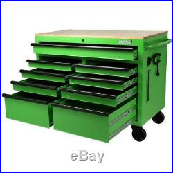 International Tool Chest Workbench 46 in. W x 24.5 in. D 9-Drawer Solid Wood Top