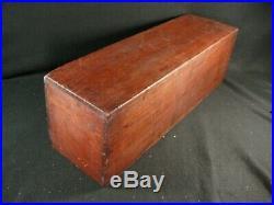 JAPANESE ANTIQUE EDO ERA c1750 SIGNED 2 DRAWER KIRI WOOD SCROLL BOX TANSU CHEST