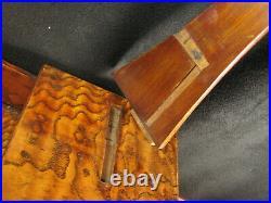 Japanese Antique 5 Drawer Tansu Burl Mulberry Wood Samurai Sword Stand Chest