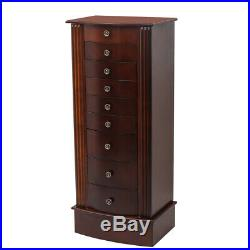 Jewelry Cabinet Armoire Box Wood Storage Chest Stand Organizer Christmas Gift US