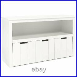Kids Toy Storage Cabinet, Toddler's Room Chest Cabinet 3 Drawers with Wheels