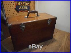 L3441- Antique H. Gerstner & Sons 7 Drawer Machinist Tool Box Chest Oak Wood