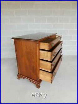 L & J G Stickley Cherry Valley Chippendale Style 4 Drawer Chest 43w