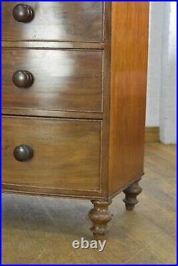 Large Antique Victorian bow front chest of drawers