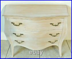 Large Vintage 33 French Louis XV Style Wood Bombay Chest of Drawers Nightstand