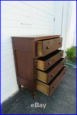 Late 1800s Empire Flame Mahogany Chest of Drawers 9945