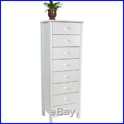 Lingerie Storage Dresser 8 Drawer Narrow Chest Furniture Tall Space Saver Bureau