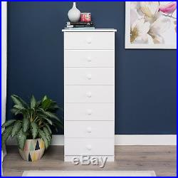 Lingerie Storage Dresser Seven Drawer Chest Bedroom Furniture Tall Space Saving