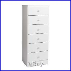 Lingerie Storage Dresser Six Drawer Chest Bedroom Furniture Tall Space Saving