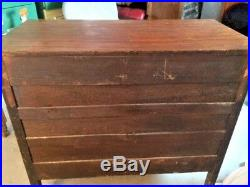 Local Pickup Antique Wood 4-Drawer Low Boy Chest Dresser withBrass Pulls
