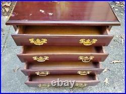 Local Pickup Chippendale Bachelors Chest of Drawers End Table Nightstand
