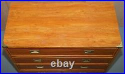 Lovely Vintage Meubles Gautier Made In France Military Campaign Chest Of Drawers