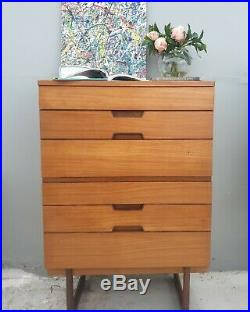 MID Century Chest Of Drawers Tallboy Danish Style Delivery Available