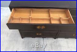 MID Century Michael Taylor For Baker Furniture Double Row Chest Of Drawers