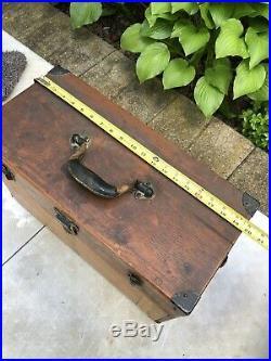 Machinist Lufkin Union tool box woodgrain Wood Vtg Carpenter Chest 7 Drawer Vtg
