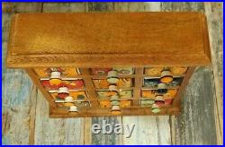 Mango Wood Chest Of 12 Ceramic Drawers Jewellery Spices Trinkets Fair Trade