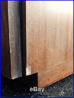 Mid Centruy Modern Era Lane Brutalist Chest of (5) Drawers Tall Dresser Highboy