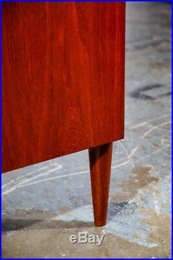 Mid Century Danish Modern Chest of Drawers Dresser Teak Central Mobler 4 Vintage