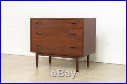 Mid Century Dresser Danish Modern Arne Vodder Style Three Drawer Chest Vintage