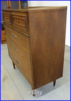 Mid-Century Modern Broyhill Premier Sculptra Tall Dresser/Chest of Drawers