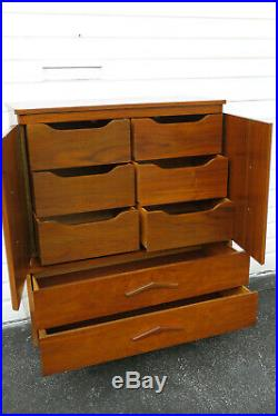 Mid Century Modern Curved Top Chest of Drawers 9926