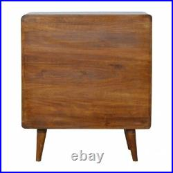 Mid Century Modern Dark Wood Chest Of Drawers Hand Made Solid Wood FREE DELIVERY