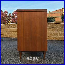 Mid Century Modern Walnut & Laminate 3 Drawer Bachelor's Chest Low Dresser