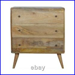 Mid Century Scandinavian Style Chest Of Drawers Hand Made Solid Mango Wood