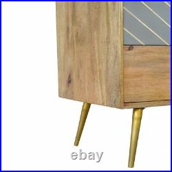 Mid Century Scandinavian Style Chest Of Drawers With Grey Cement Concrete Detail