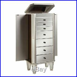 Mirrored Accent 7-Drawers Chest With Mirrors Jewelry Storage Bedroom Furniture