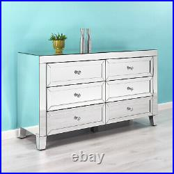 Mirrored Chest of 6 Drawers Free 2 man Upstairs Delivery Fully Assembled