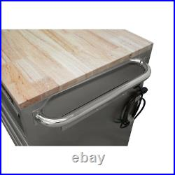 Mobile Workbench 52 in. W 5-Drawer 1-Door, Deep Tool Chest in Stainless Steel